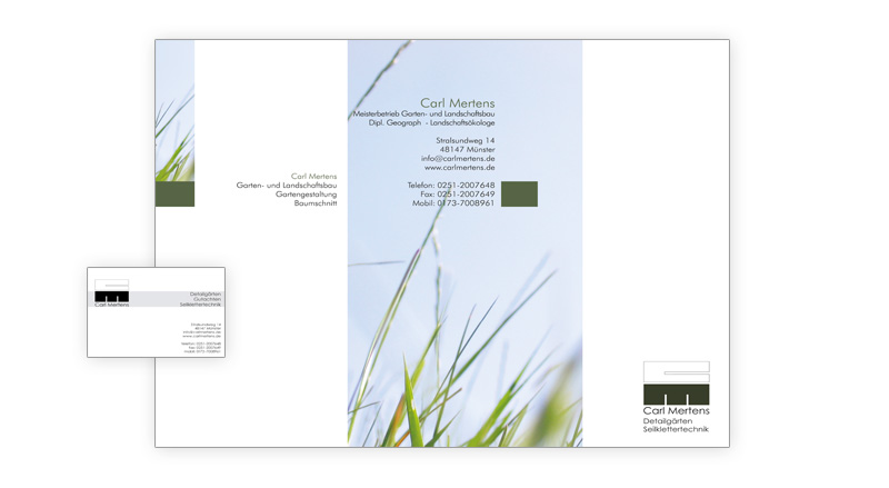 printdesign münster - florian diederich: carl mertens, flyer, Gartenarbeit ideen